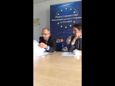 Videoconference with the EU Ambassador to Ukraine Jan Tombinski in Dnipropetrovsk and Sumy