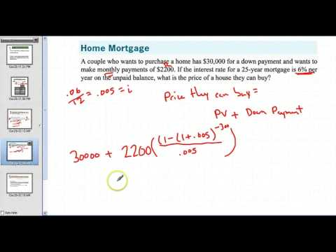 5.6 Notes  Annuities and Loan Repayment