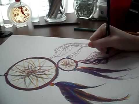 Art vlog drawing a dream catcher youtube for What do dreamcatchers do
