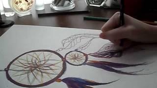 ART VLOG: Drawing a Dream Catcher