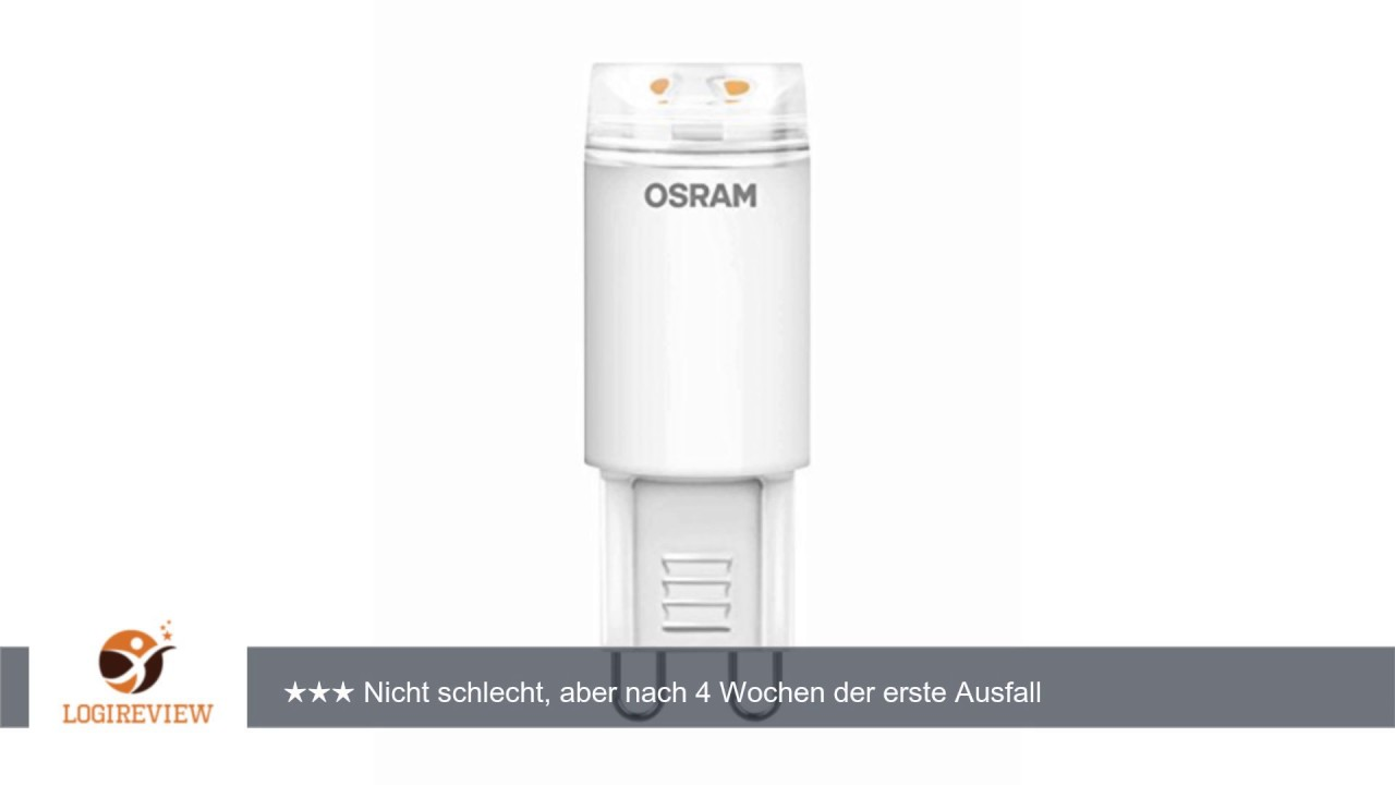 OSRAM LED-Lampe G9 Star Special LED Pin Stecksockel-Lampe / 2.5W ...