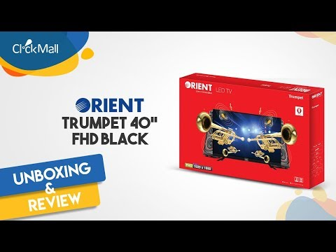 "Orient Trumpet 40"" Smart FHD Black LED TV Unboxing l Clickmall"