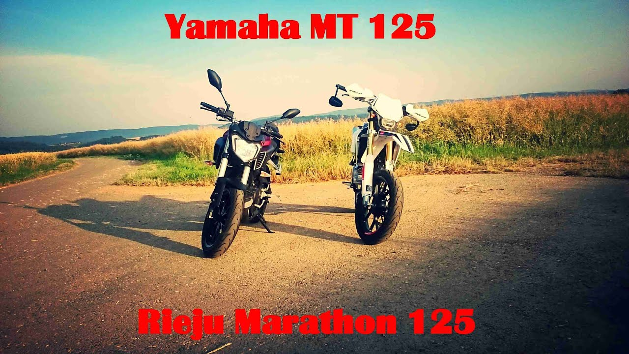 yamaha mt 125 rieju marathon 125 youtube. Black Bedroom Furniture Sets. Home Design Ideas