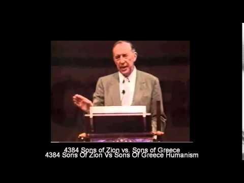 Derek Prince - Sons of Zion vs. Sons of Greece - HUMANISM Forerunner for Antichrist