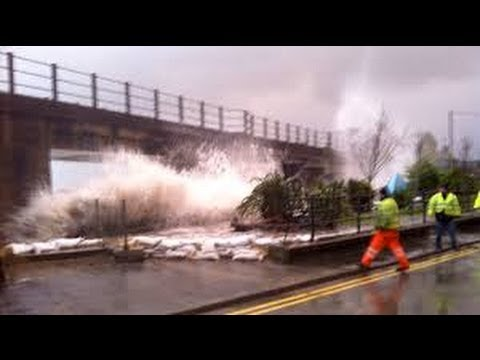 Barmouth  Hit by UK storm
