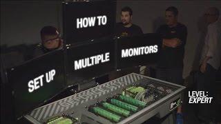 Geforce Garage: Cross Desk Series, Video 8  – How To Set Up Multiple Monitors