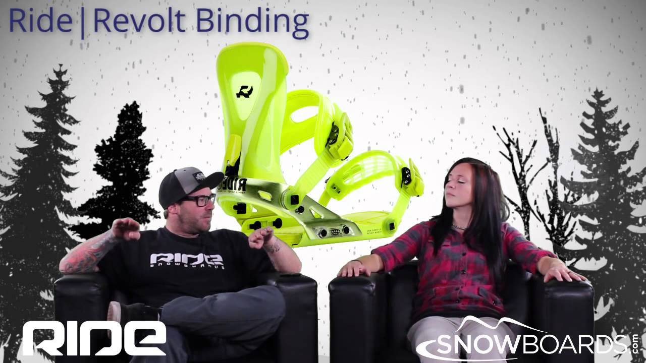 9f2f6c70b6c1 2015 Ride Revolt Mens Binding Overview by SnowboardsDOTcom - YouTube