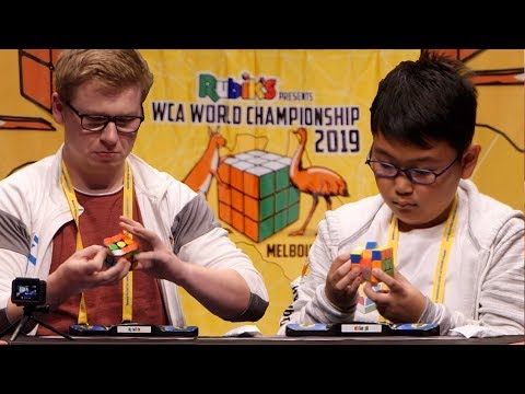 WCA World Championship 2019 3x3 Finals! (feat. Philipp Weyer, Sean Patrick Villanueva)