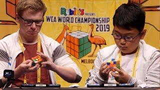 WCA World Chionship 2019 3x3 Finals feat Philipp Weyer Sean Patrick Villanueva