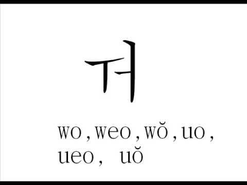Korean Hangeul Vowels Youtube