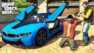 ГТА 5 МОДЫ РЕАЛЬНАЯ ЖИЗНЬ УКРАЛ BMW i8 У ЮТУБЕРА #3 В GTA 5! ОБЗОР МОДА GTA 5 ИГРЫ МУЛЬТИК ВИДЕО