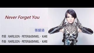Video 張韶涵《Never forget you》中英文歌詞版 MV HD download MP3, 3GP, MP4, WEBM, AVI, FLV Maret 2017