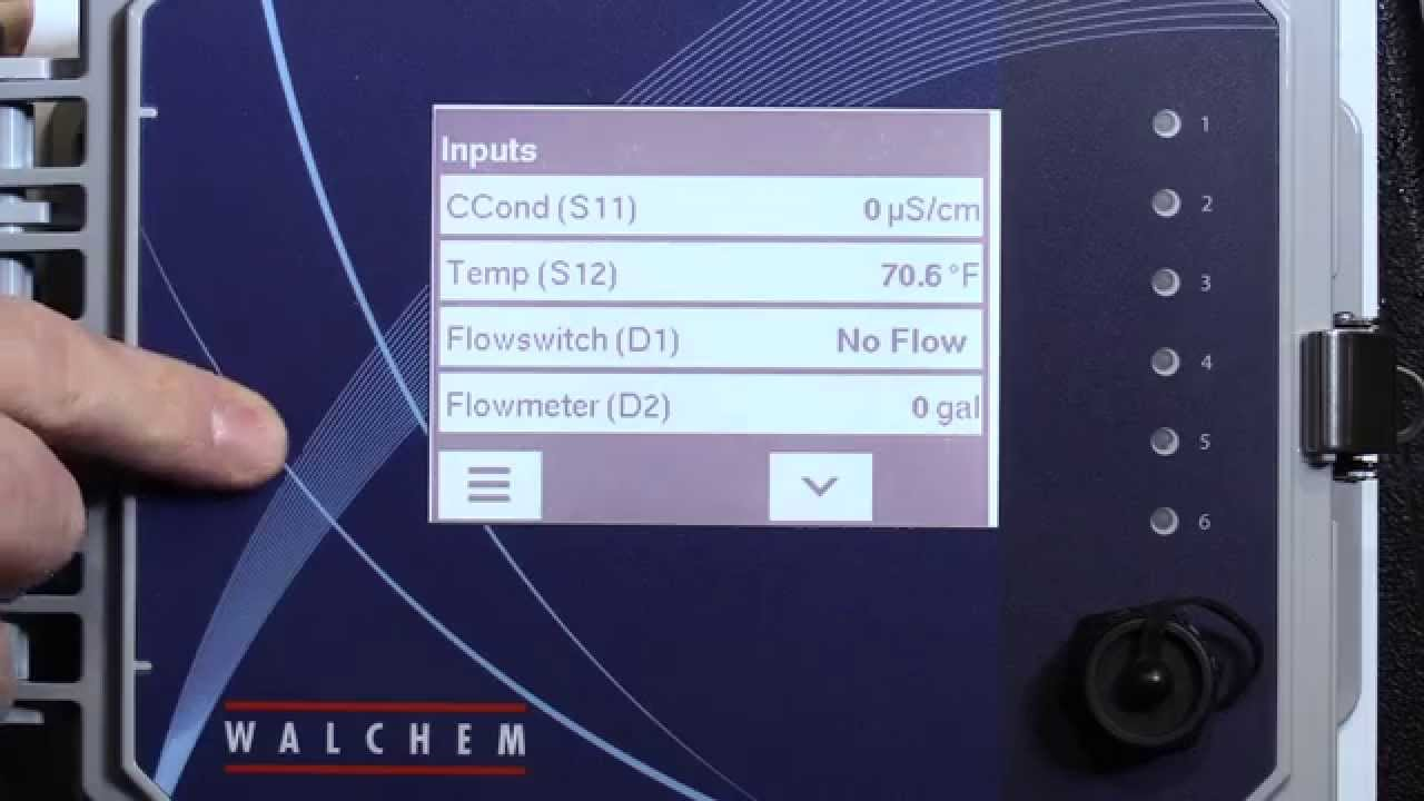 How To Program Walchem W600 Cooling Tower Controller Video Youtube