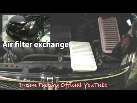Air filter exchange☠Toyota Isis@Dream Factory Official YouTube