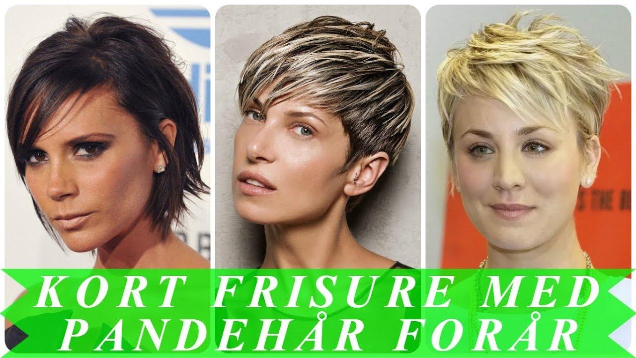 Kort frisure med langt pandehår