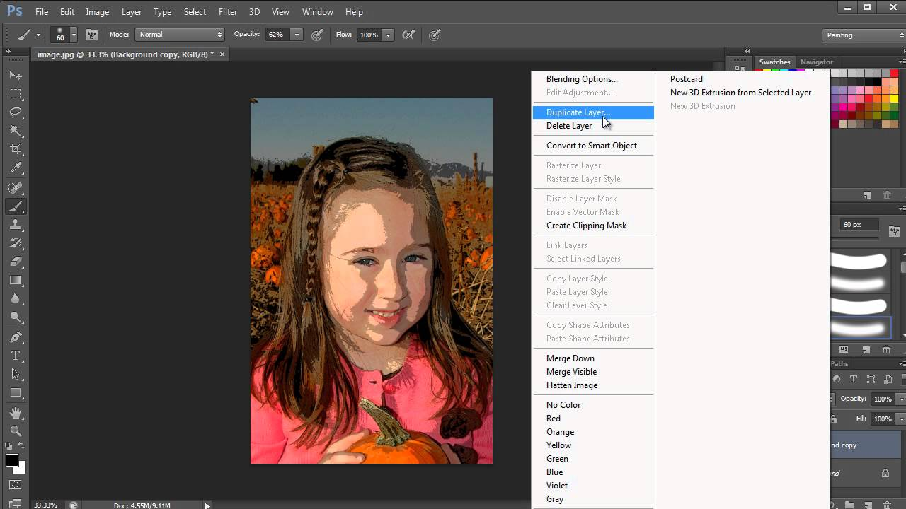 How To Posterize A Photo | Photoshop - YouTube