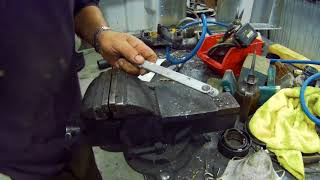 How to use solid rivets the old way - and tips for using a hammer to make a gasket