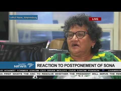 SONA postponement - Jessie Duarte reacts