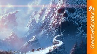 Skull Cave - Speed Painting (#Photoshop) | CreativeStation