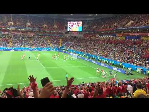 Brasil Switzerland Steven Zuber goal 1:1 (live tribune) (World Cup 2018)