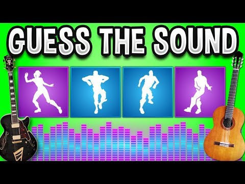 GUESS The FORTNITE DANCE (GUITAR MUSIC) - Fortnite Quiz #3