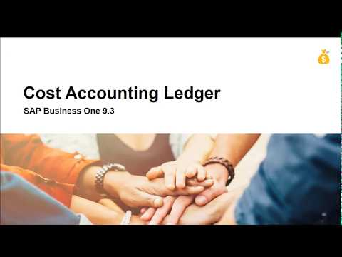 SAP Business One 9.3 - Cost Accounting
