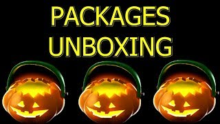 TF2: Unboxing Halloween Keyless Packages from Contracts >Team Fortress 2<