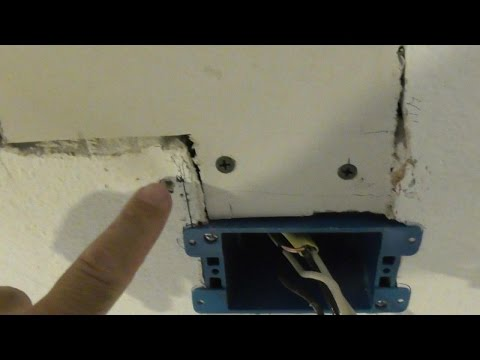 how-to-extend-wiring-in-ceiling-or-wall-for-light-fixture-romex-install-junction-j-box