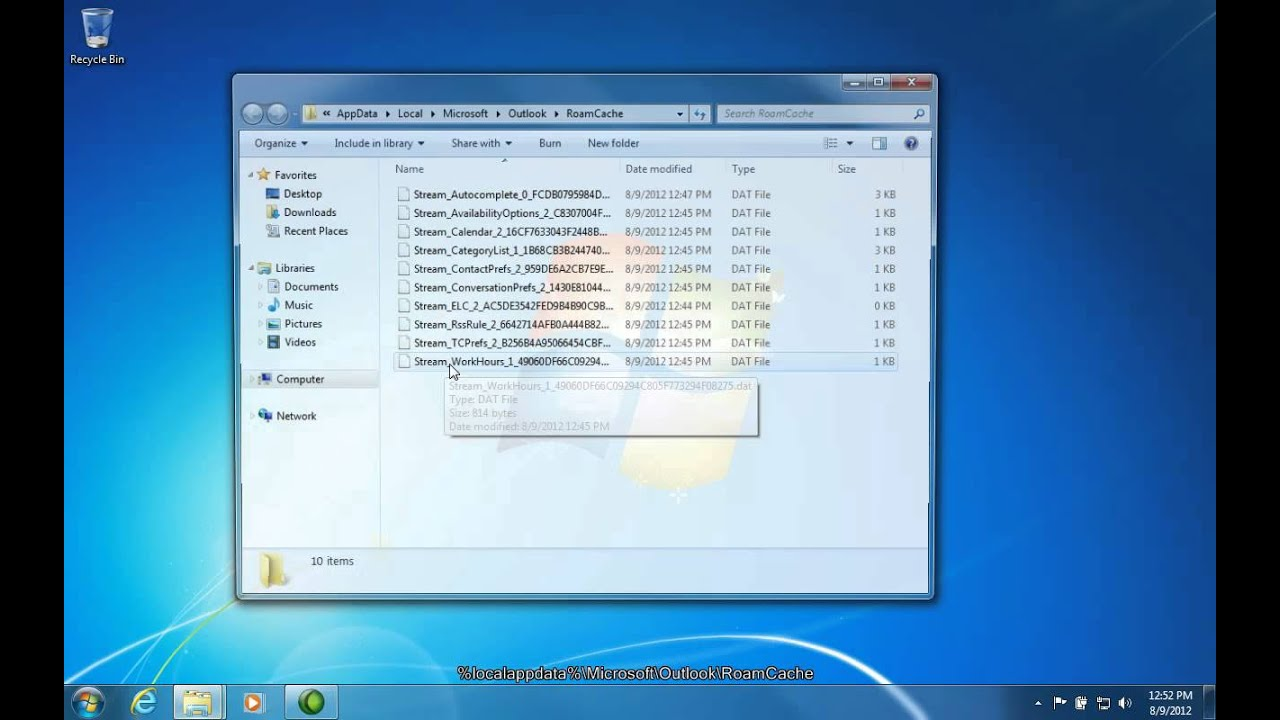 How To Backup the Outlook Auto-Complete (NK2) File