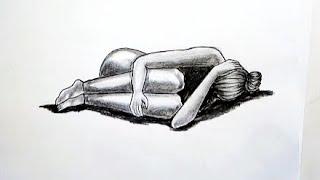 رسم سهل بالرصاص ..سلسلة الرسوم التعبيرية #36 easy pencil drawings .. Expressive drawings Series