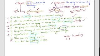 Vocabulary Lesson 3 Ability Capability Difference Youtube