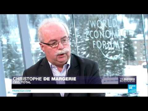 Davos: Christophe de Margerie, chief executive of the French energy company Total
