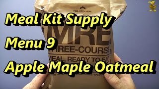 Mre Review - Meal Kit Supply - Menu 9 - Apple Maple Oatmeal (2014)