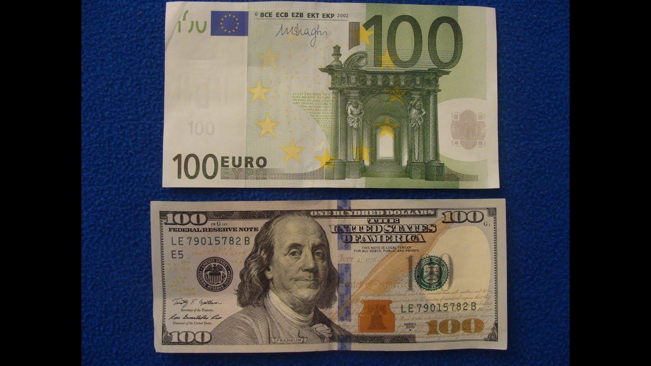 Billete De 100 Euros Vs