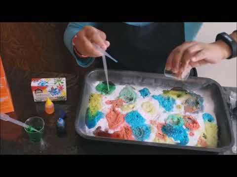 Baking Soda and Colored Vinegar Experiment (Early Childhood Education Activity)