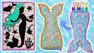 💙 DIYs: Mermaid School Supplies, Notebook and Reversible Pencil Case 💙