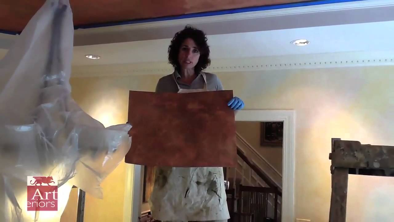 Copper Metallic Paint Finish On Tray Ceiling Youtube
