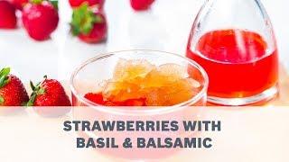Basil Granita in Strawberry Elixir Recipe - Cooking with Bosch