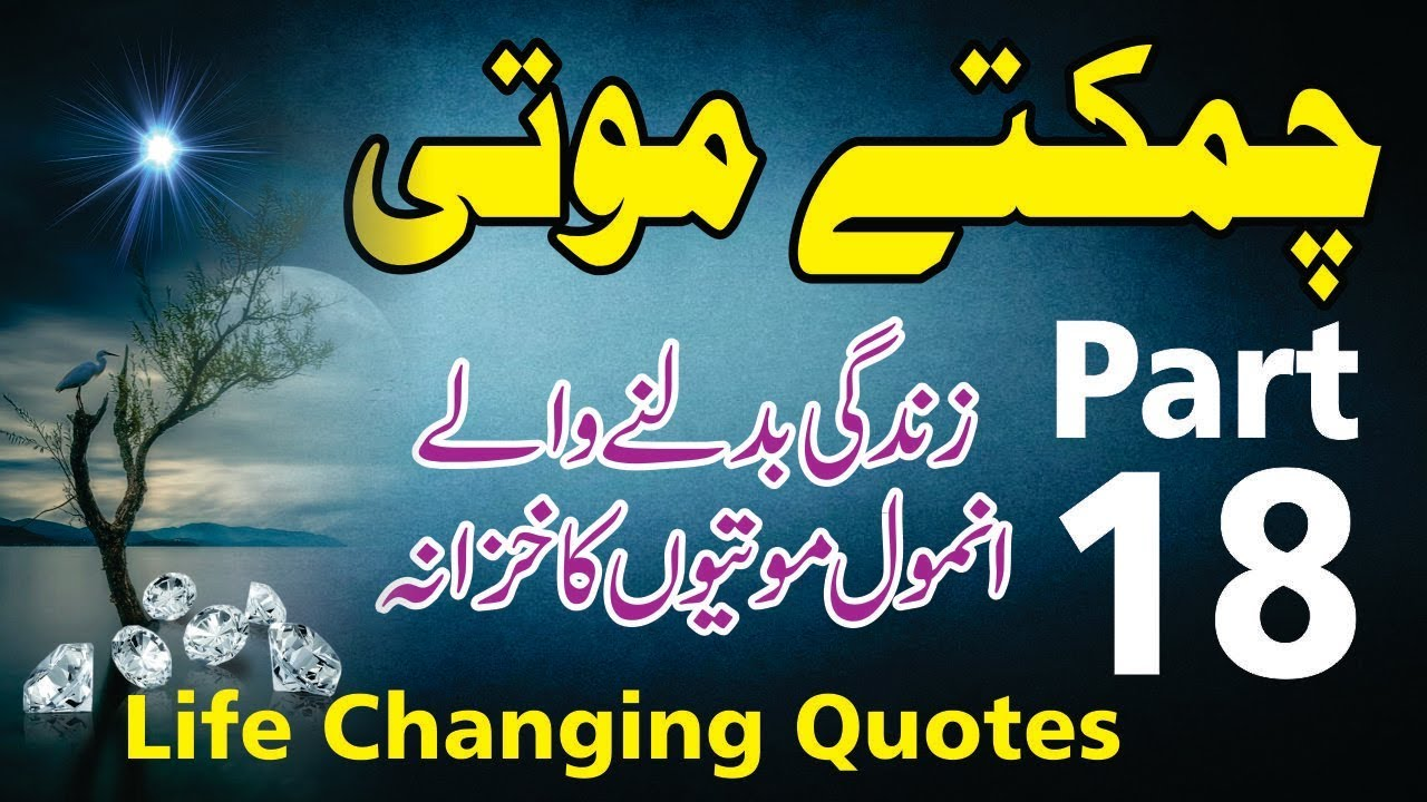Audio Quotes About Life Chamkety Moti Part 18  Aqwak E Zareen  Motivational Quotes