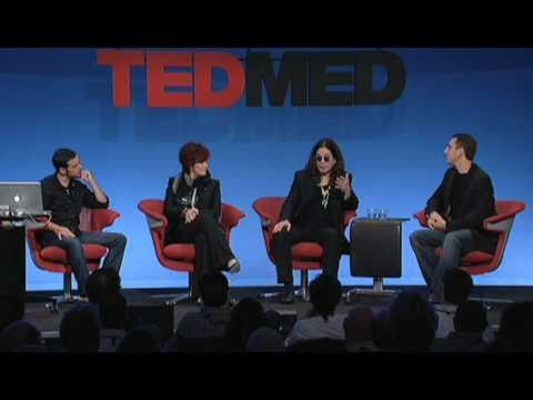 Ozzy and Sharon Osbourne with Nathaniel Pearson at TEDMED 2010