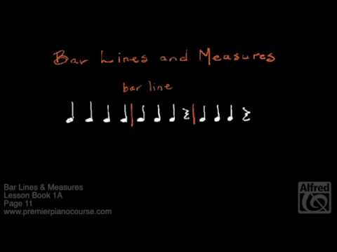 Lesson Book 1A, Page 11: Bar Lines & Measures