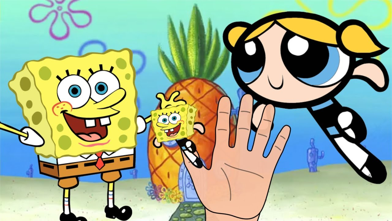 The Powerpuff Girls Spongebob Squarepants Finger Family -6386