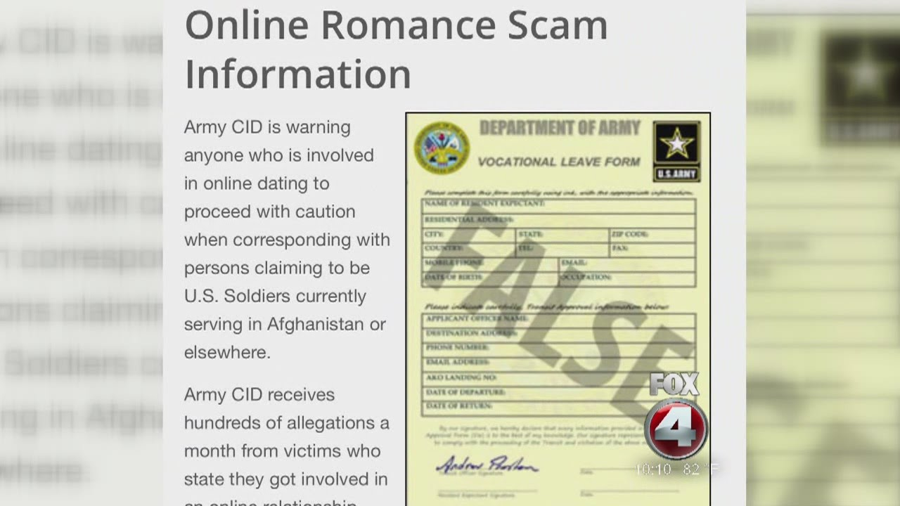 Us army dating site scams