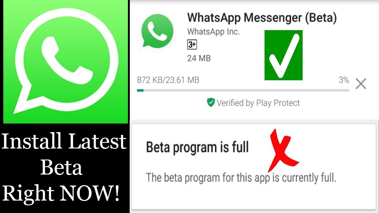 how to fix beta program is full for whatsapp youtube