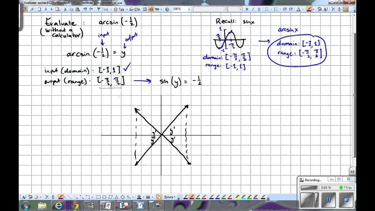how to solve arctan without calculator