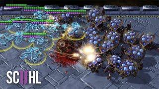 Speed BANSHEES vs SWARM HOSTS - StarCraft 2 - Maru vs Solar