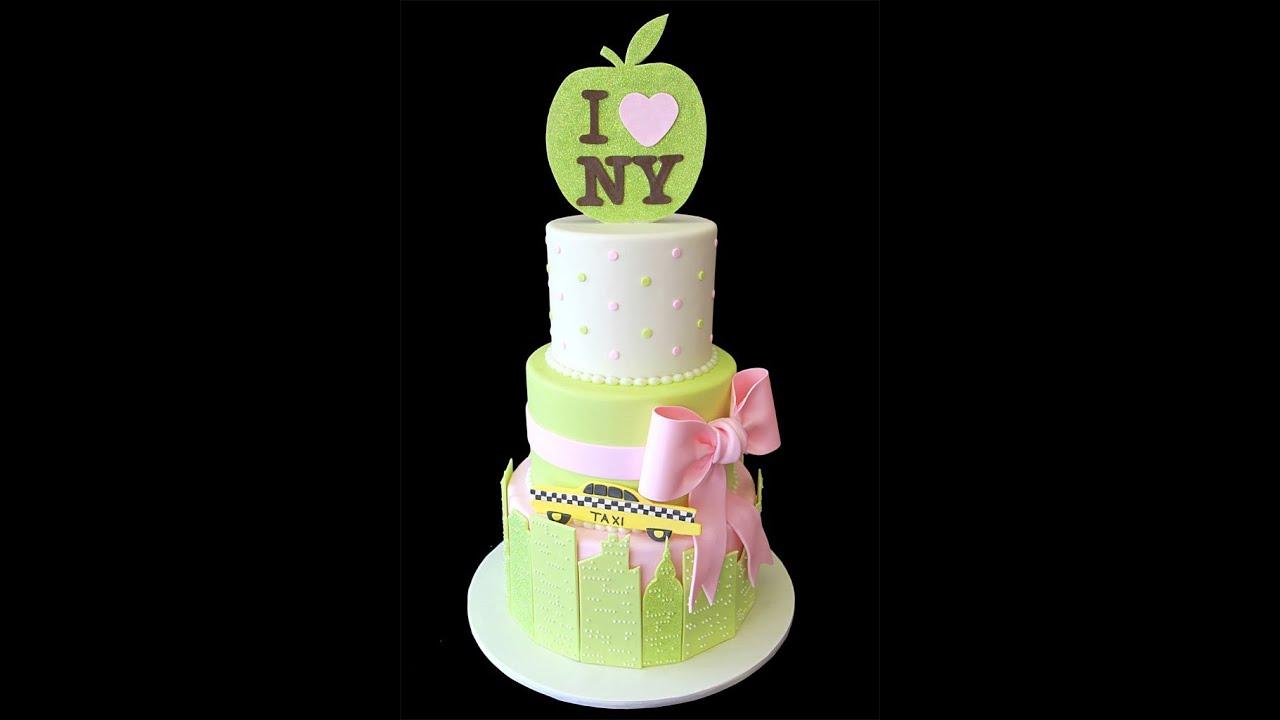 Ny Themed Baby Shower Cake Youtube