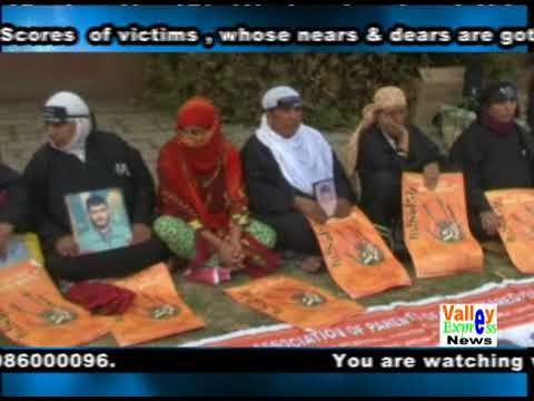 protest in PRATAB PARK SRINAGAR  Srinagar  on world DISAPPEARANCE international day