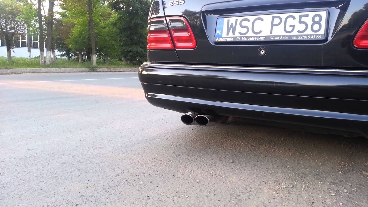 mercedes benz e55 amg w210 start up and revs with custom exhaust