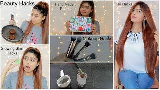6 New HAIR, MAKEUP, BEAUTY HACKS You Must Try   Rinkal Soni